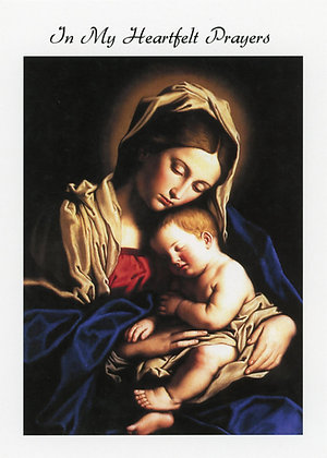 In My Heartfelt Prayers - Madonna and Child Jesus GW5