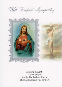 With Deepest Sympathy, Sacred Heart
