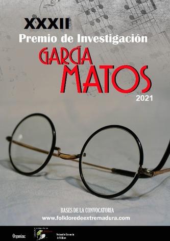 """Convocatoria XXXII Premio Investigación """"García Matos"""""""