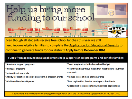 Application for Educational Benefits - Apply by Dec. 8