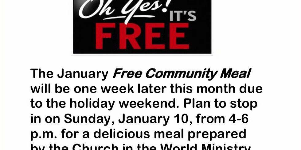 Free Community Meal