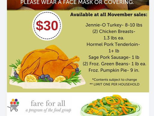 November Fare for All Holiday Pack