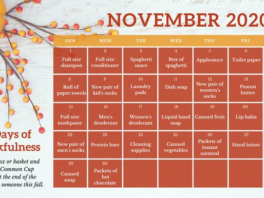 30 Days of Thankfulness
