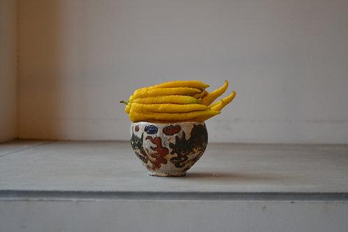 ドラゴンボール (龍文彫絵付茶碗)