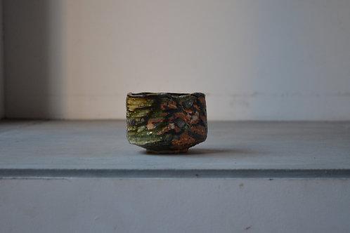 Manga Oribe tea bowl / tea person / Seto / 21st century