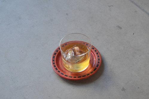 鹿絵籃胎漆皿 / ビルマ / 19〜20世紀