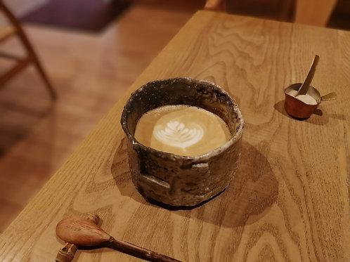 筒形面取り茶碗 / 信楽 / 21世紀