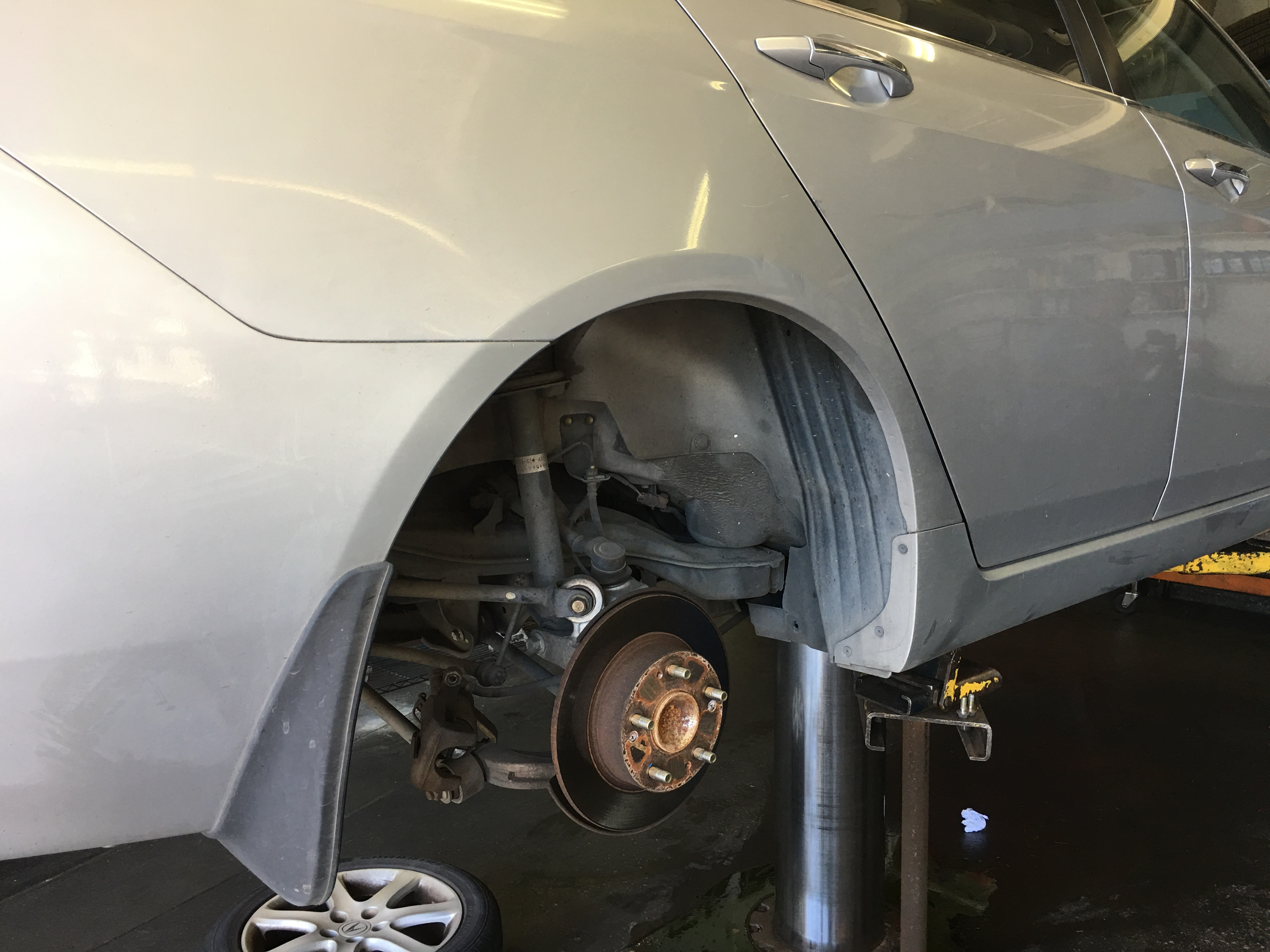 Brake inspection and tire change