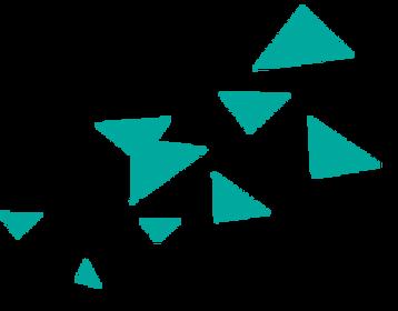 散在ブルー三角形2