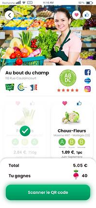 application mobile Lokalité - produit à acheter
