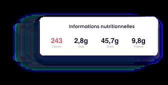 Lokalité - Informations nutritionnelles - Calories, gras, sucre, protéine