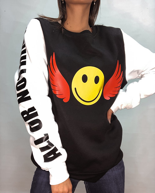 Black Smiley Wings