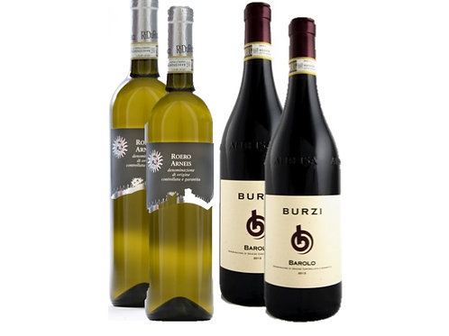 Gift box 4 bottles - for him: 2 Barolo og 2 Arneis