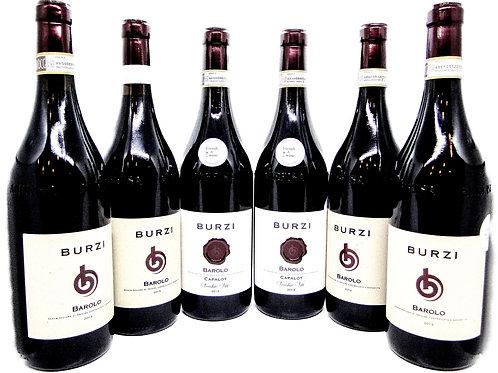 Burzi Barolo-kasse med 6 flasker