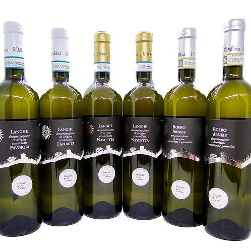 RiDaRoca Hvidvinskasse med 6 flasker