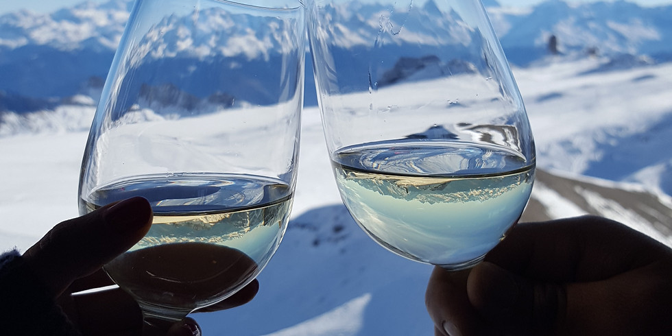 Getting ready for after ski with Friends & Wine !!