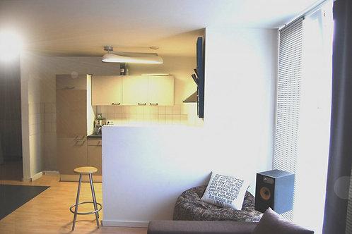 Komfortables Zwei-Zimmer-Neubau-Apartment auf 48,60 m² Wfl.