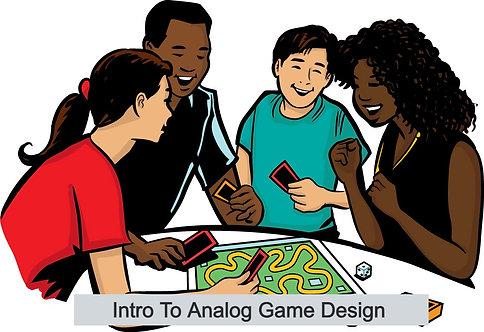 أسبوع 2 ANALOG تصميم اللعبة 8-12 يونيو 2020