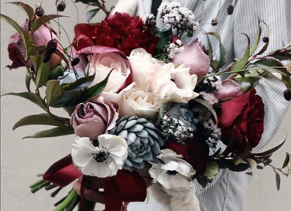 Succulent Fresh Flower Bouquet