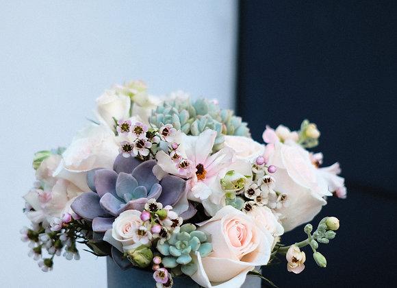 Succulent Fresh Flower Bucket