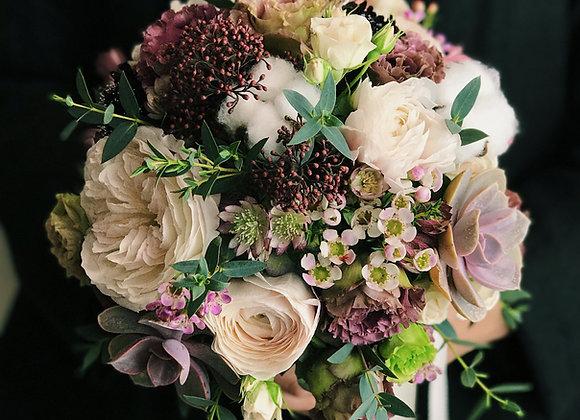Succulent Fresh Flower Bouquet - Posy