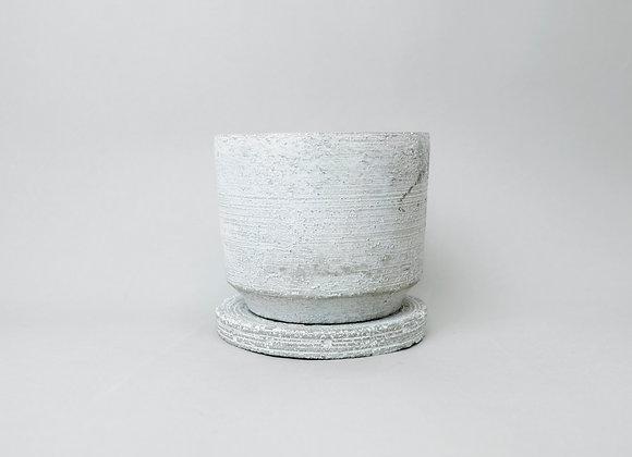 Cylinder Pot - White