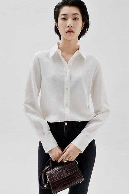修身长袖衬衣