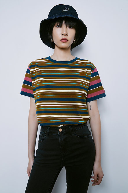 橫條紋短袖Tee