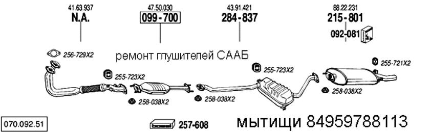 ремонт глушителя сааб