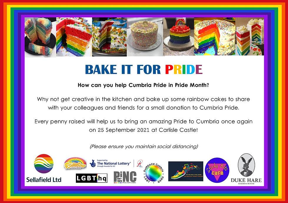 Bake it for Cumbria Pride - June 2021