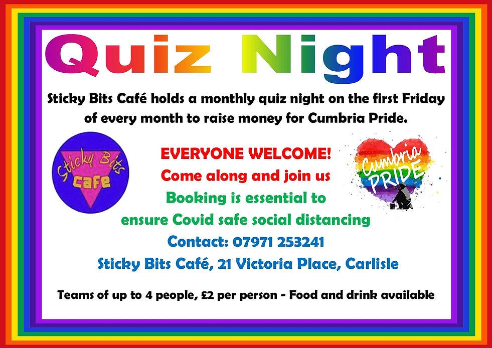 Cumbria Pride Quiz Night at Sticky Bits
