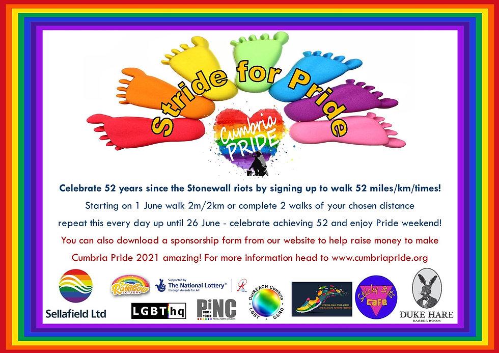 Stride for Pride - June 2021 for Cumbria