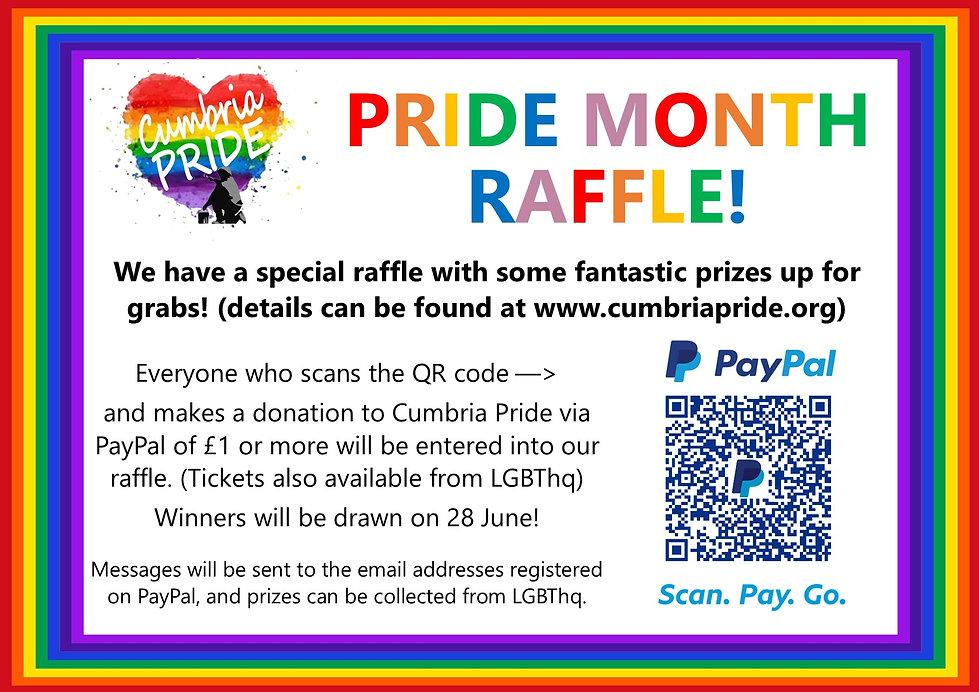 Cumbria Pride's Pride Month Raffle - Jun