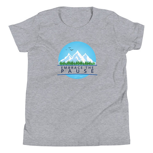 Youth Short Sleeve T-Shirt - Embrace the Pause (Nature)