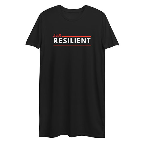 Organic Cotton T-shirt Dress - I Am Resilient