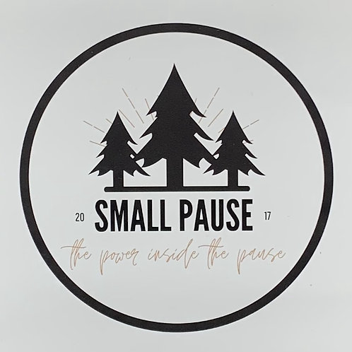 "4"" Retro Logo Small Pause Sticker - The Power Inside The Pause"