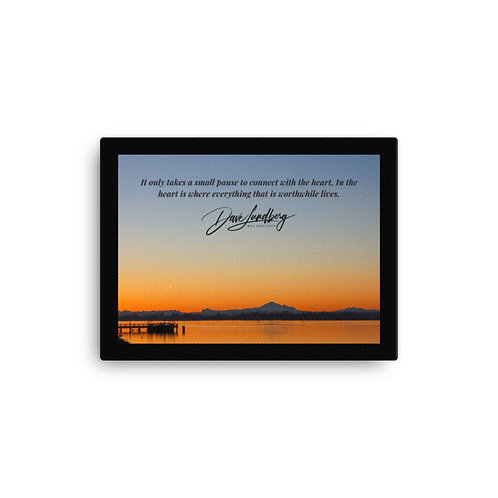 Canvas - Mount Baker Silhouette with Quote