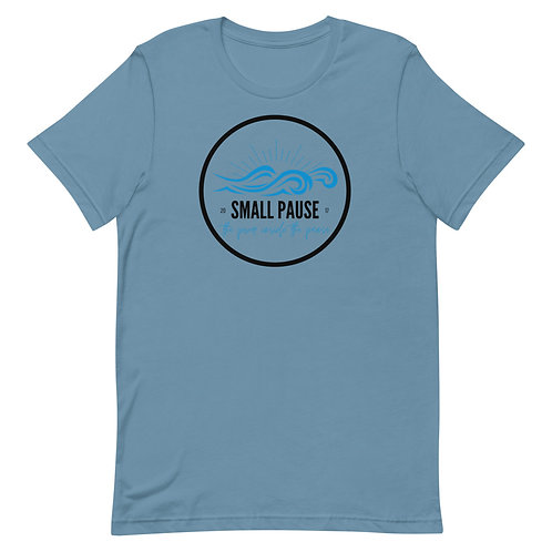 Men's or Women's Short-Sleeve T-Shirt - Retro Small Pause Logo (Waves)