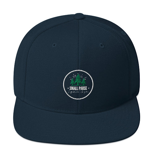 Snapback Hat (New) - Retro Small Pause Logo (Trees)