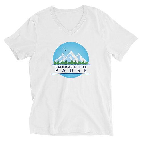 Men's Short Sleeve V-Neck T-Shirt - Embrace the Pause (Nature)