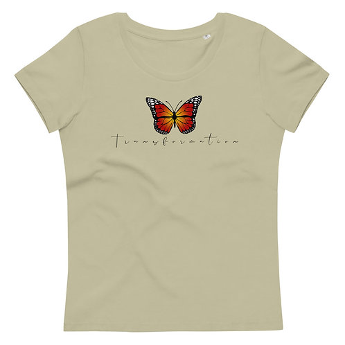 Women's Fitted Eco Tee - Transformation (Monarch Butterfly)