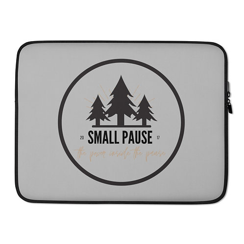 "Laptop Sleeve - Retro Small Pause Logo - 13"" and 15"" - Power Inside the Pause"