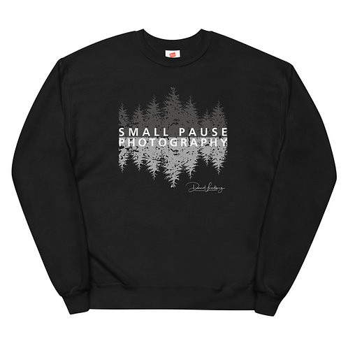 Men's or Women's Cozy Fleece Sweatshirt - Small Pause Photography (Trees)