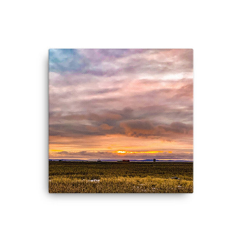 "Canvas Print - The Marsh at Sunset (12""x12"")"