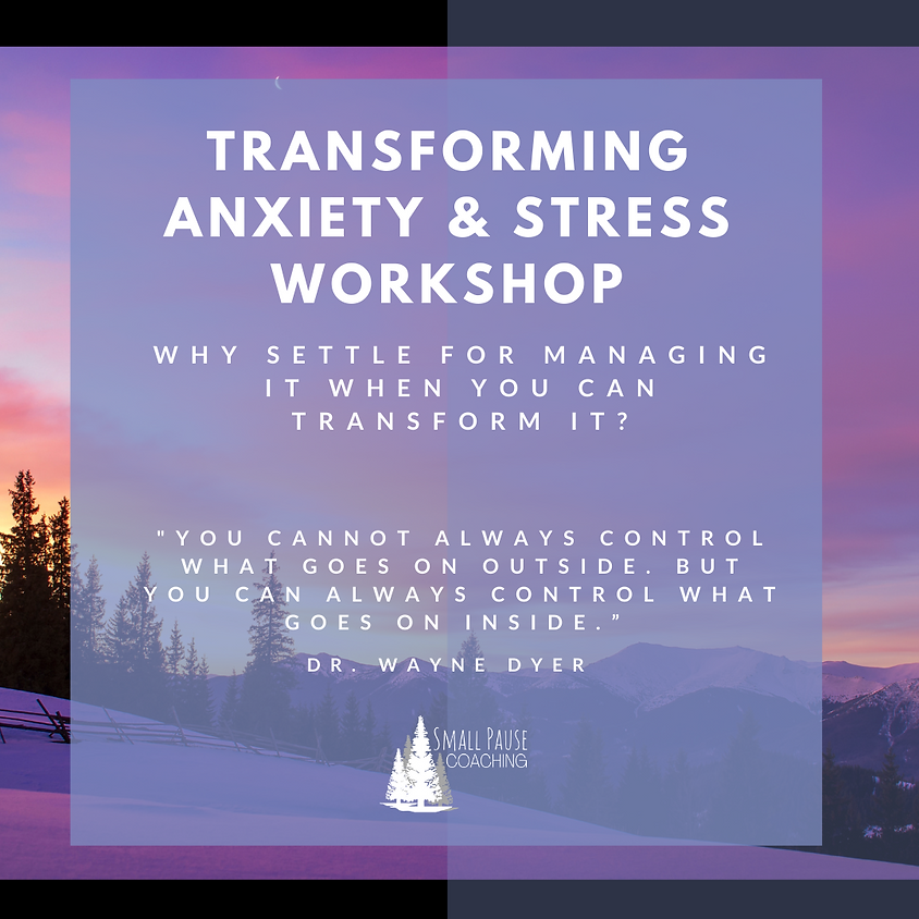Transforming Anxiety & Stress Pop-up