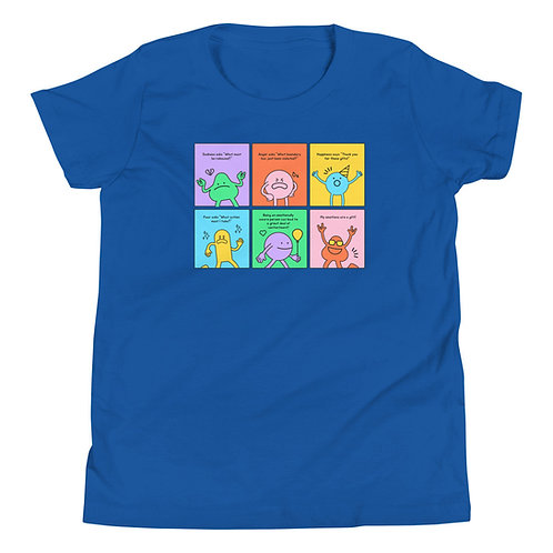 Youth Short Sleeve T-Shirt - I Am An Emotional Being (Cartoon)