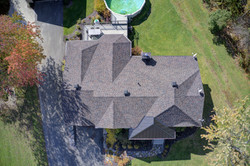 toiture de maison vue de haut
