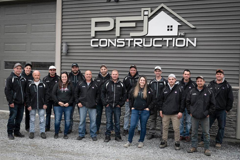 photo d'équipe PFJ Construction