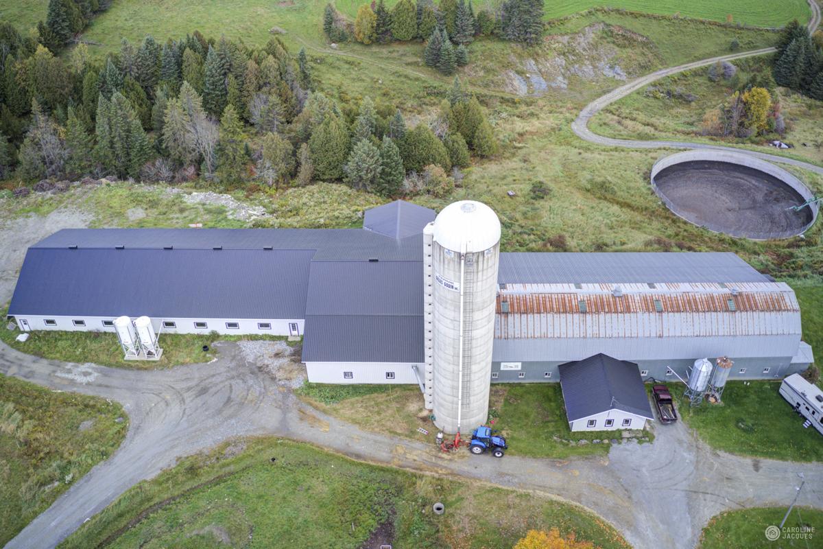 agrandissement d'un ferme laitière