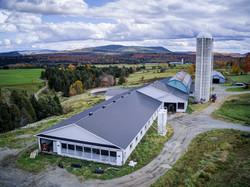 agrandissement d'une ferme laitière